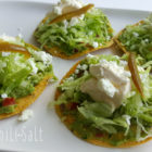 Guacamole and cream tostaditas