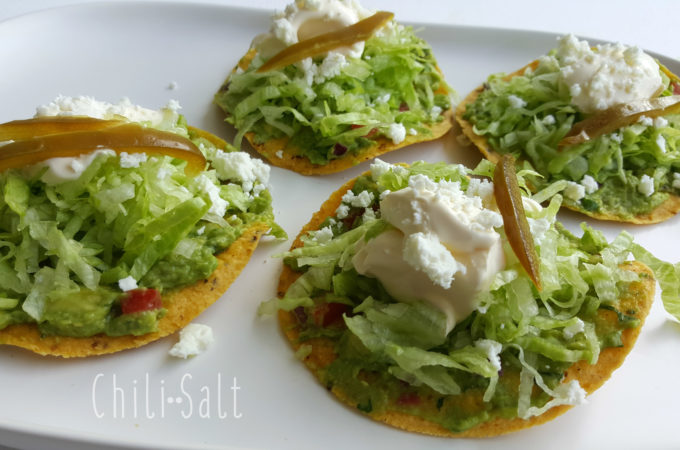 Chilisalt mexican food blog easy mexican recipes guacamole cream mexican tostaditas forumfinder Images